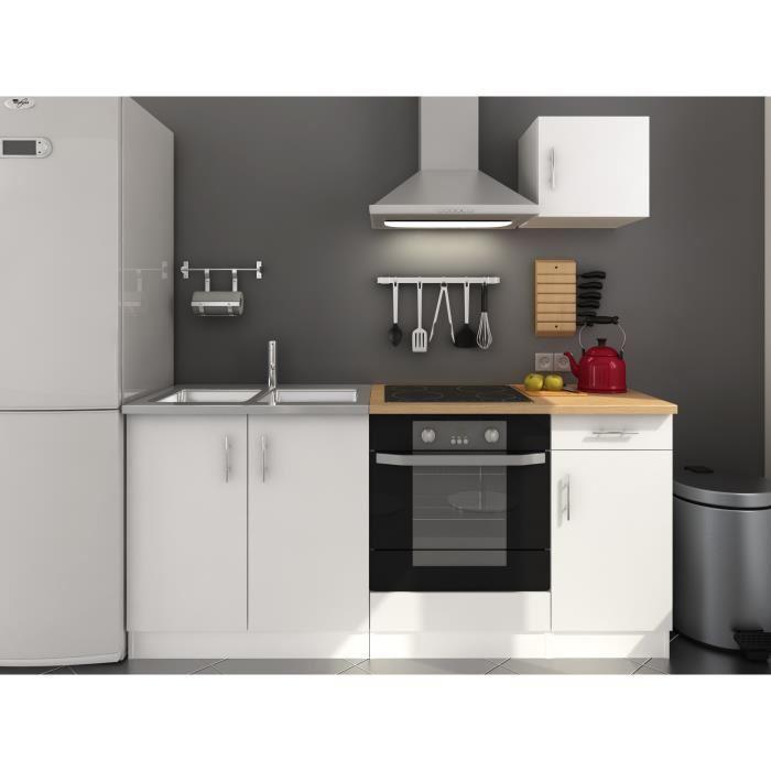 Cuisine compl te tilt coloris blanc mat 180 cm - Prix cuisine professionnelle complete ...