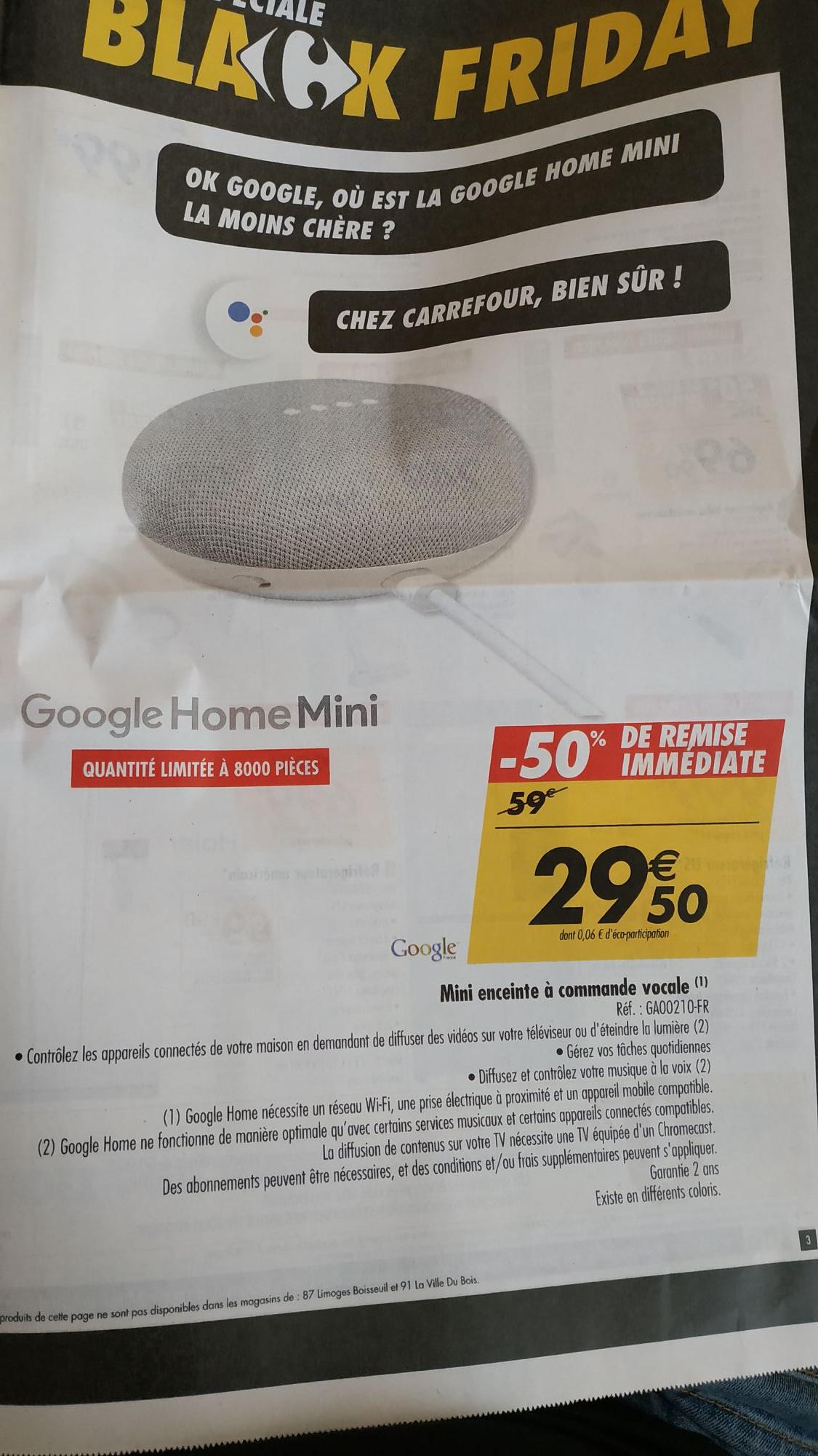 assistant vocal google home mini. Black Bedroom Furniture Sets. Home Design Ideas