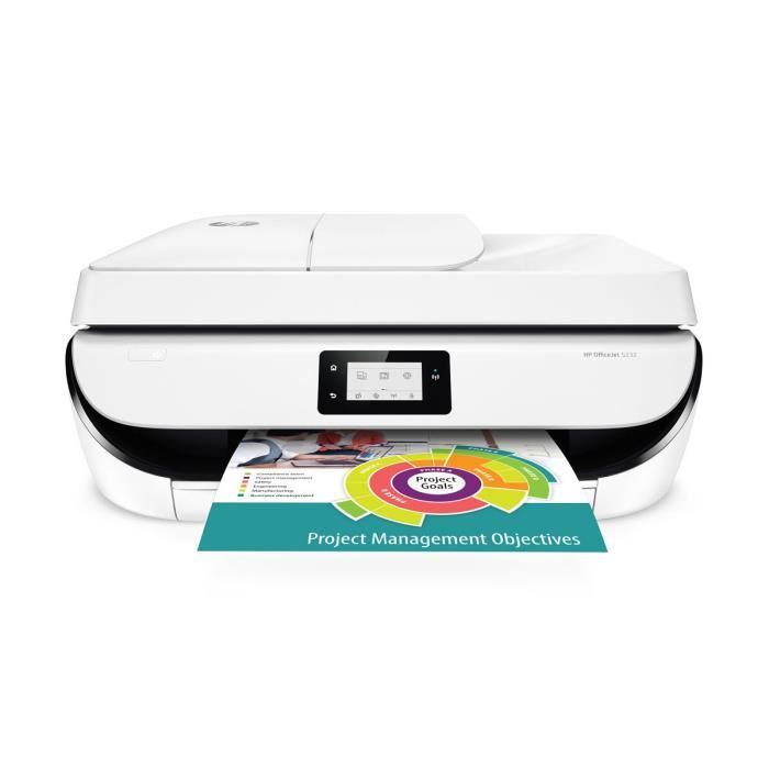 imprimante hp officejet 5232 en 4 en 1 5 mois d 39 impression instant ink via odr 40. Black Bedroom Furniture Sets. Home Design Ideas
