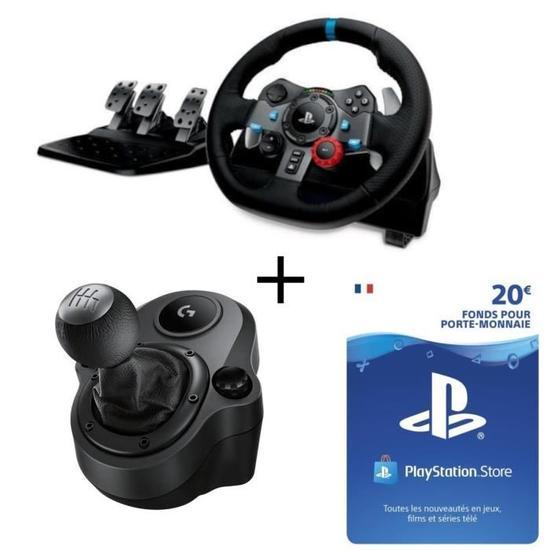 pack volant de course logitech g29 p dalier levier de vitesse driving force shifter pc ps3. Black Bedroom Furniture Sets. Home Design Ideas