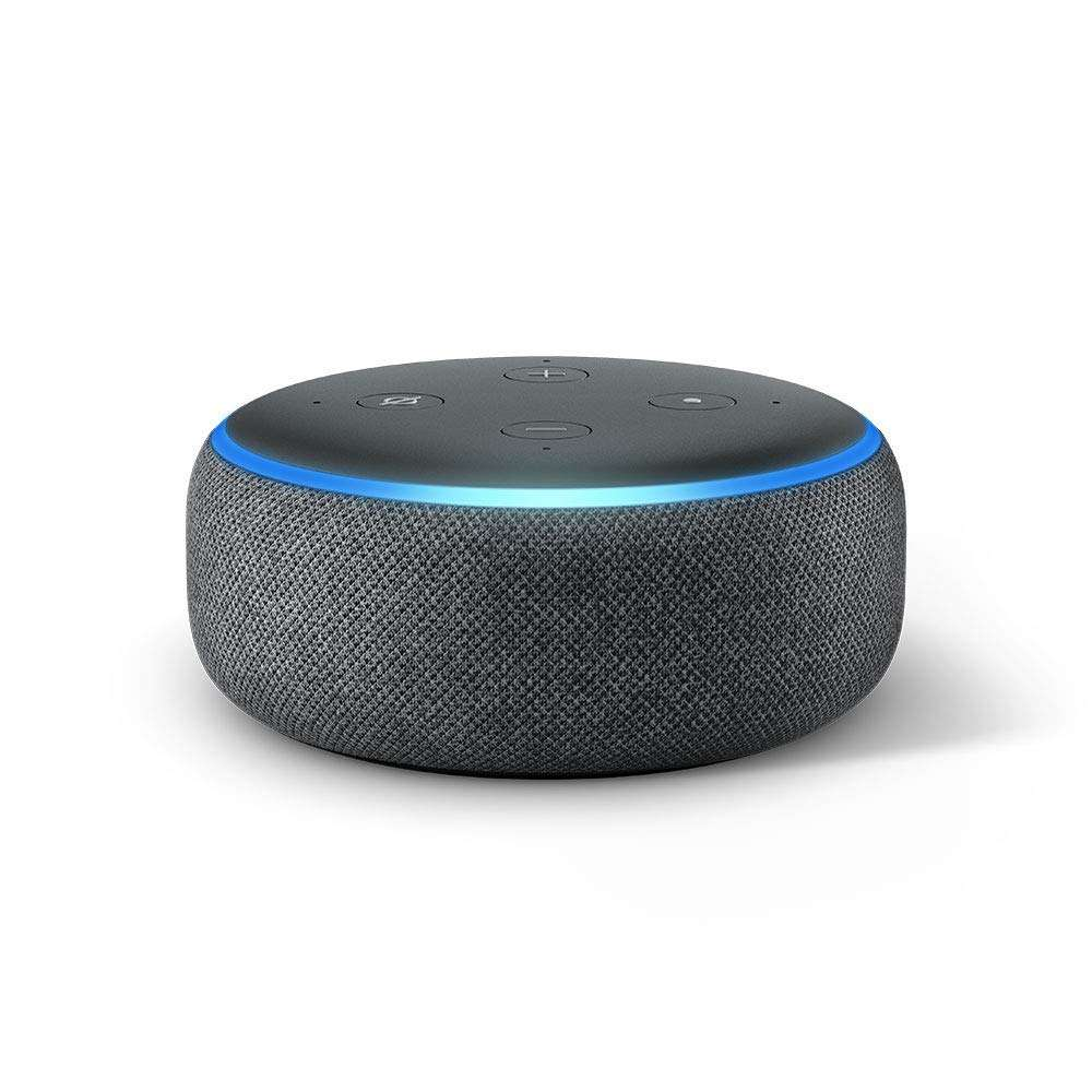 assistant vocal amazon echo dot 3 me g n ration gris blanc ou noir. Black Bedroom Furniture Sets. Home Design Ideas