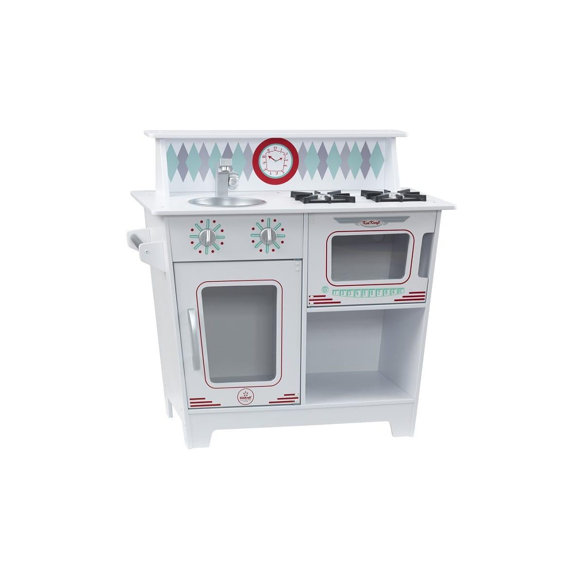 jouet d 39 imitation kidcraft petite cuisine enfant blanche classique en bois 67 x 36 x 65 cm. Black Bedroom Furniture Sets. Home Design Ideas