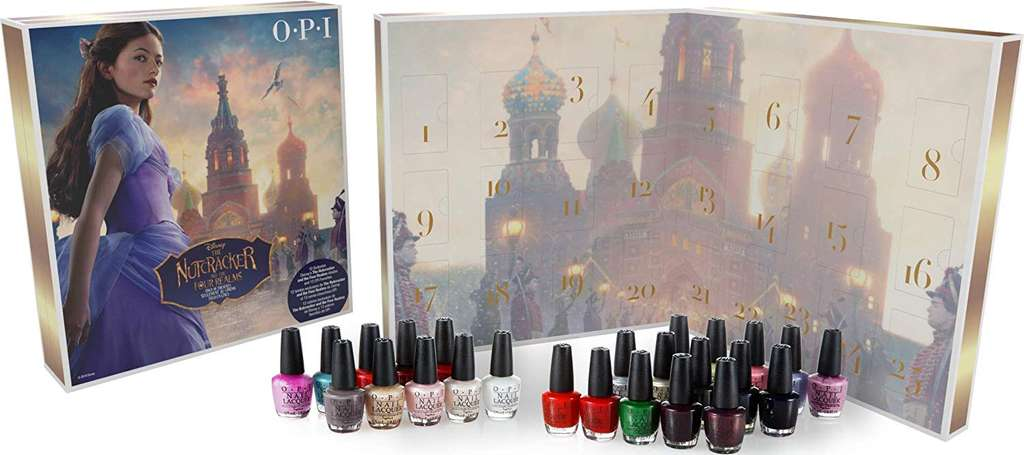 le calendrier de l 39 avent opi avec 25 flacons de vernis. Black Bedroom Furniture Sets. Home Design Ideas