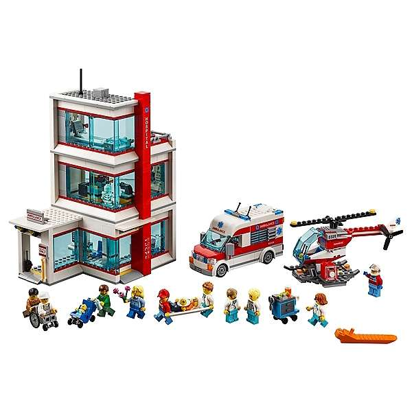 jeu de construction lego city l 39 h pital lego city 60204. Black Bedroom Furniture Sets. Home Design Ideas