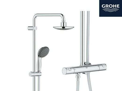 colonne de douche thermostatique grohe vitalio start system 160. Black Bedroom Furniture Sets. Home Design Ideas