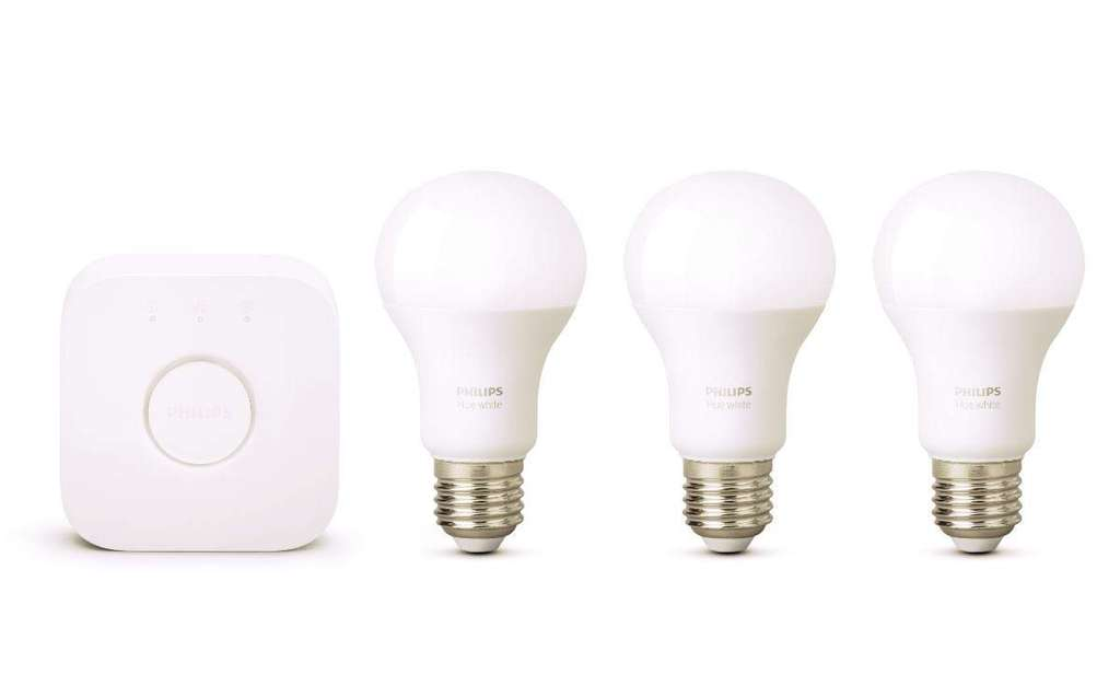 kit de d marrage philips hue 3 ampoules white e27 pont. Black Bedroom Furniture Sets. Home Design Ideas