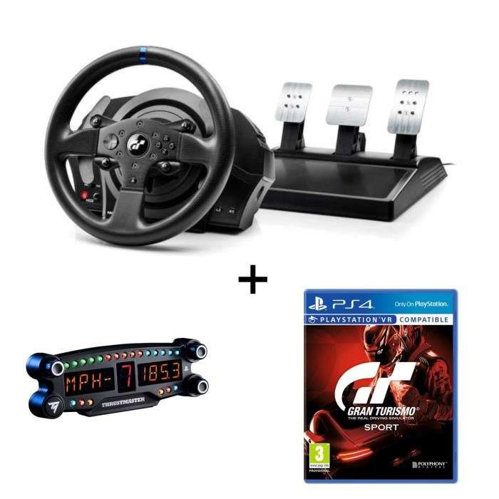 pack volant thrustmaster t300rs gt edition ps3 ps4 pc afficheur bt led display ps4. Black Bedroom Furniture Sets. Home Design Ideas
