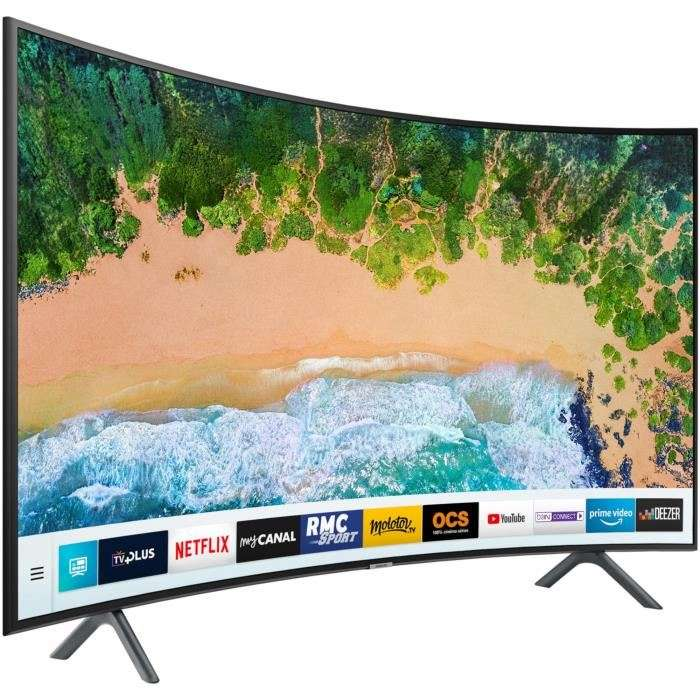 tv 55 samsung ue55nu7372kxxc led 4k uhd hdr incurv smart tv 3 mois rmc sport offerts. Black Bedroom Furniture Sets. Home Design Ideas