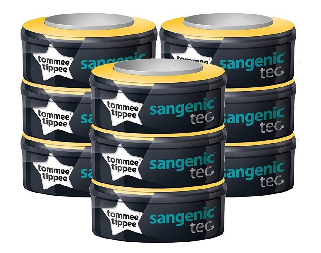 Lot de 9 recharges pour poubelles couches sangenic tec - Recharges poubelle a couches sangenic ...