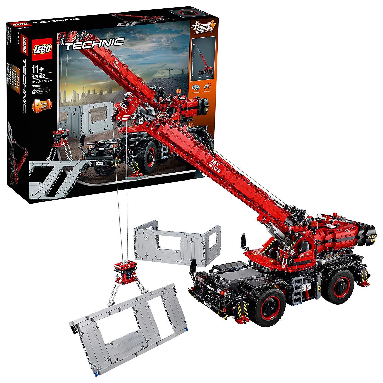 jeu de construction lego technic 42082 la grue tout terrain. Black Bedroom Furniture Sets. Home Design Ideas
