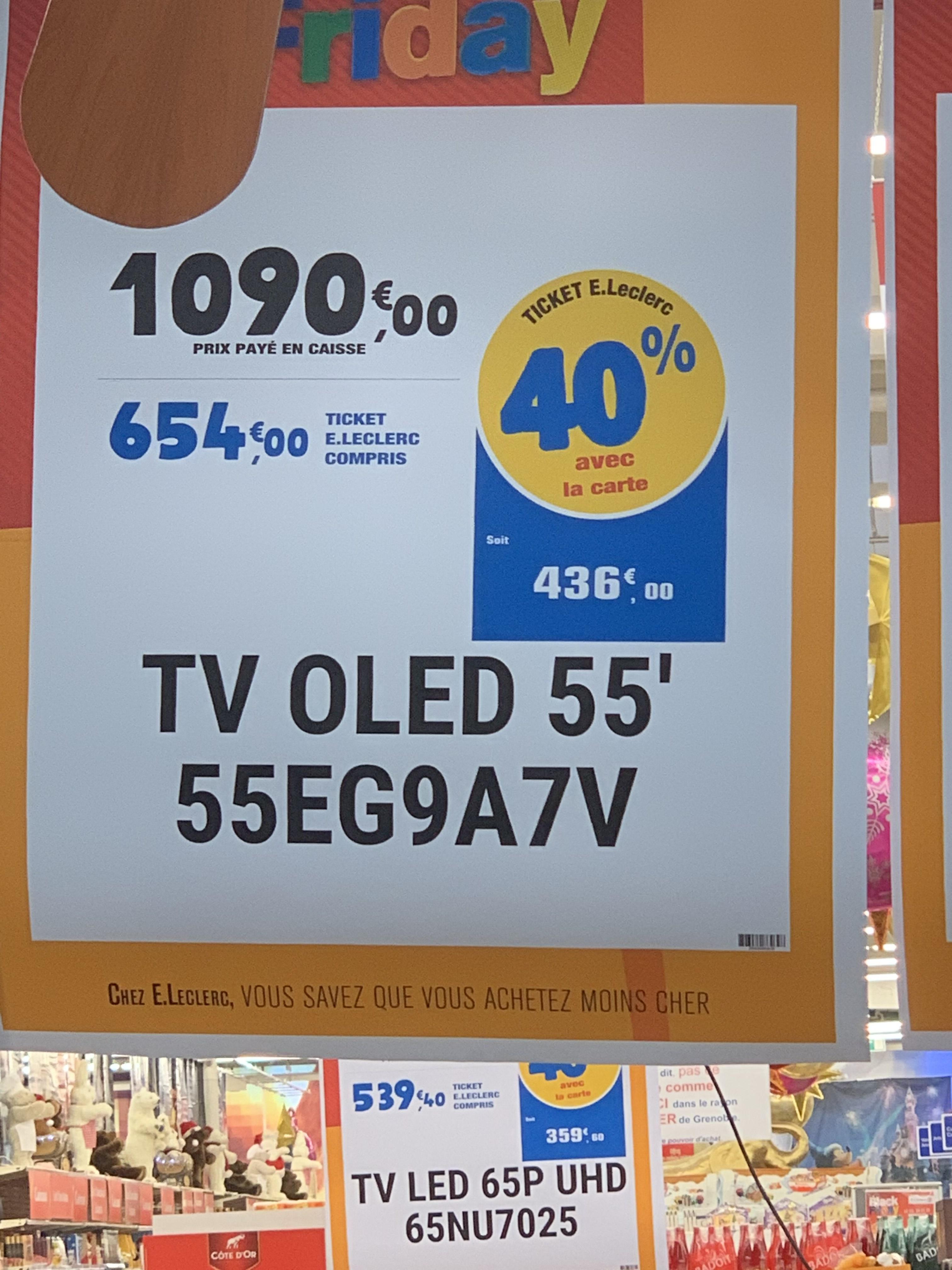 tv 55 lg 55eg9a7v oled full hd via 436 en ticket leclerc comboire 38. Black Bedroom Furniture Sets. Home Design Ideas