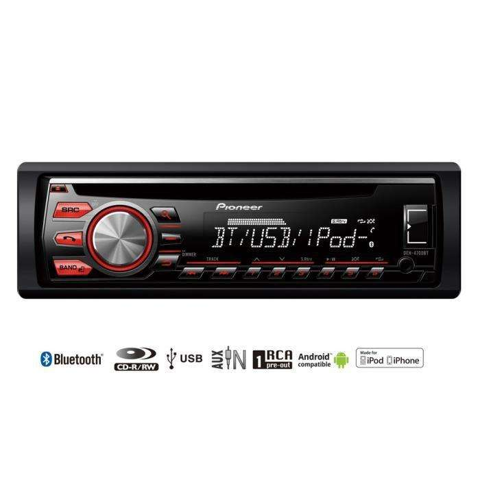 autoradio pioneer deh 4700bt cd bluetooth usb aux via odr 30. Black Bedroom Furniture Sets. Home Design Ideas