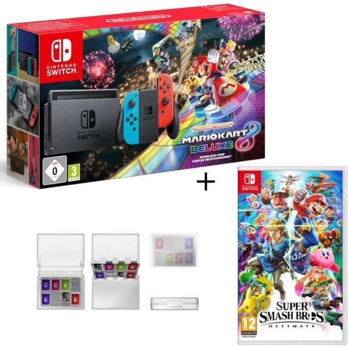 console nintendo switch mario kart 8 deluxe d mat rialis super smash bros ultimate edition. Black Bedroom Furniture Sets. Home Design Ideas
