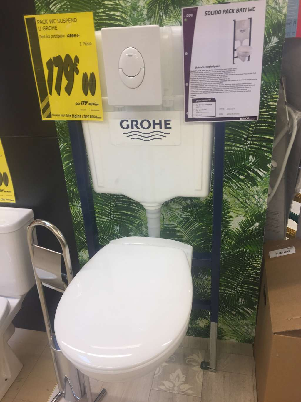 Wc Suspendu Grohe Dimension pack wc suspendu grohe solido bati - saint-marcel (27