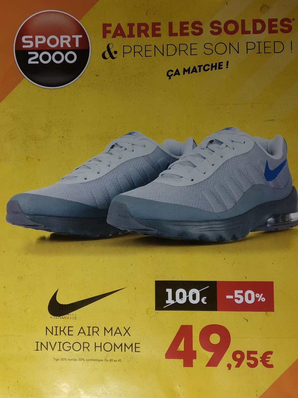 nike air max invigor gris bleu