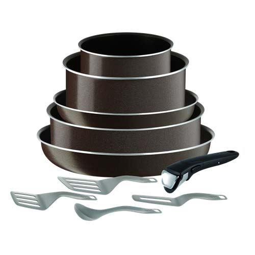 batterie de cuisine tefal ingenio essential tobacco 10 pi ces tous feux sauf induction. Black Bedroom Furniture Sets. Home Design Ideas