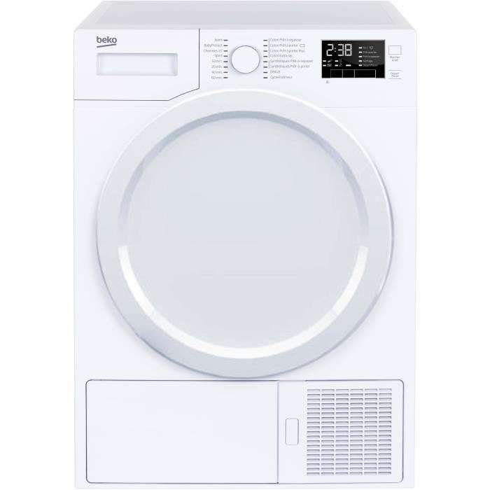 s che linge frontal beko ds7433pa0w pompe chaleur a blanc 7 kg. Black Bedroom Furniture Sets. Home Design Ideas