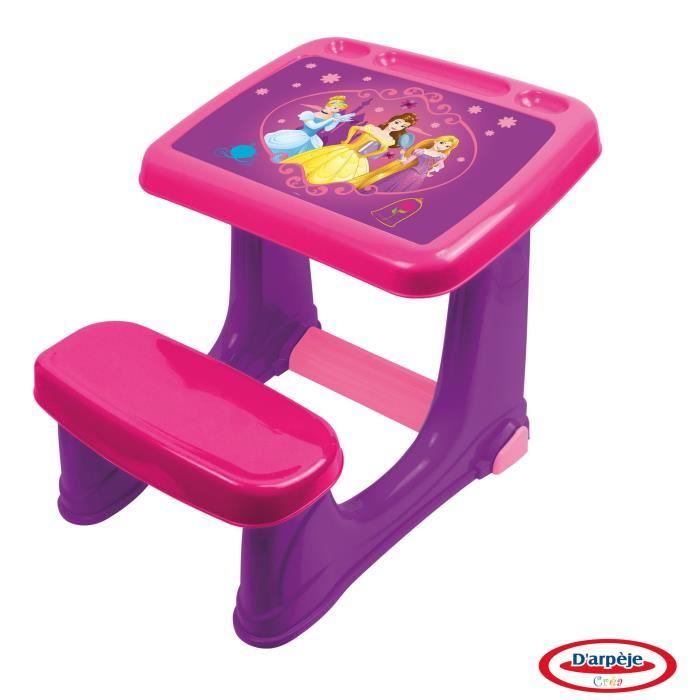 bureau en plastique disney princess mon premier bureau rose. Black Bedroom Furniture Sets. Home Design Ideas
