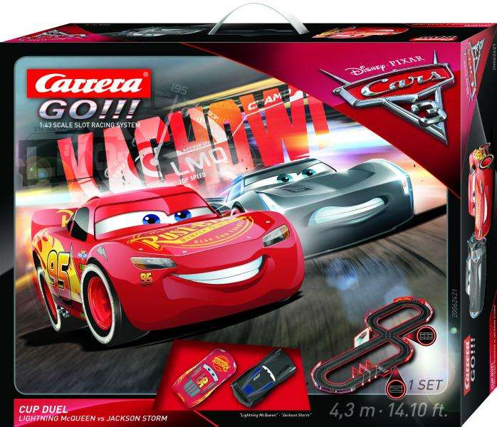 circuit de voitures lectriques carrera first disney pixar cars 3. Black Bedroom Furniture Sets. Home Design Ideas
