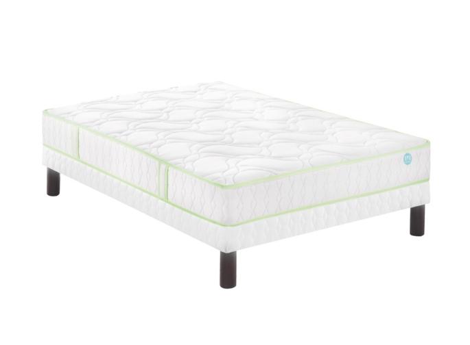 ensemble merinos fabuleux matelas 520 ressorts ensach s sommier 140x190 cm. Black Bedroom Furniture Sets. Home Design Ideas