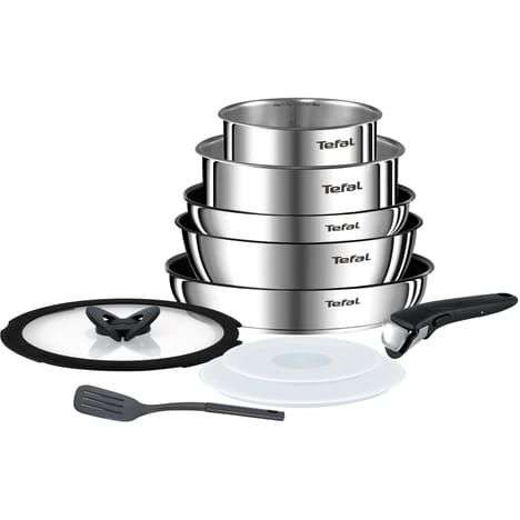Batterie de cuisine tefal emotion en inox induction 10 - Batterie de cuisine induction inox ...