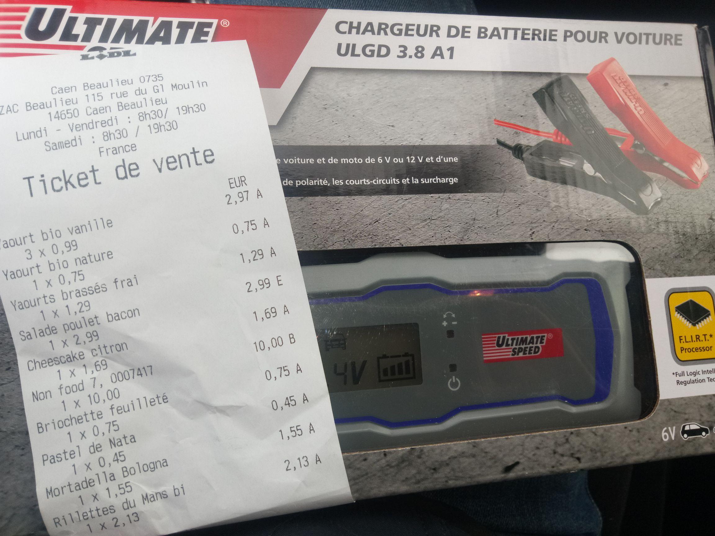 chargeur automatique batterie voiture ultimate speed lidl caen 14. Black Bedroom Furniture Sets. Home Design Ideas