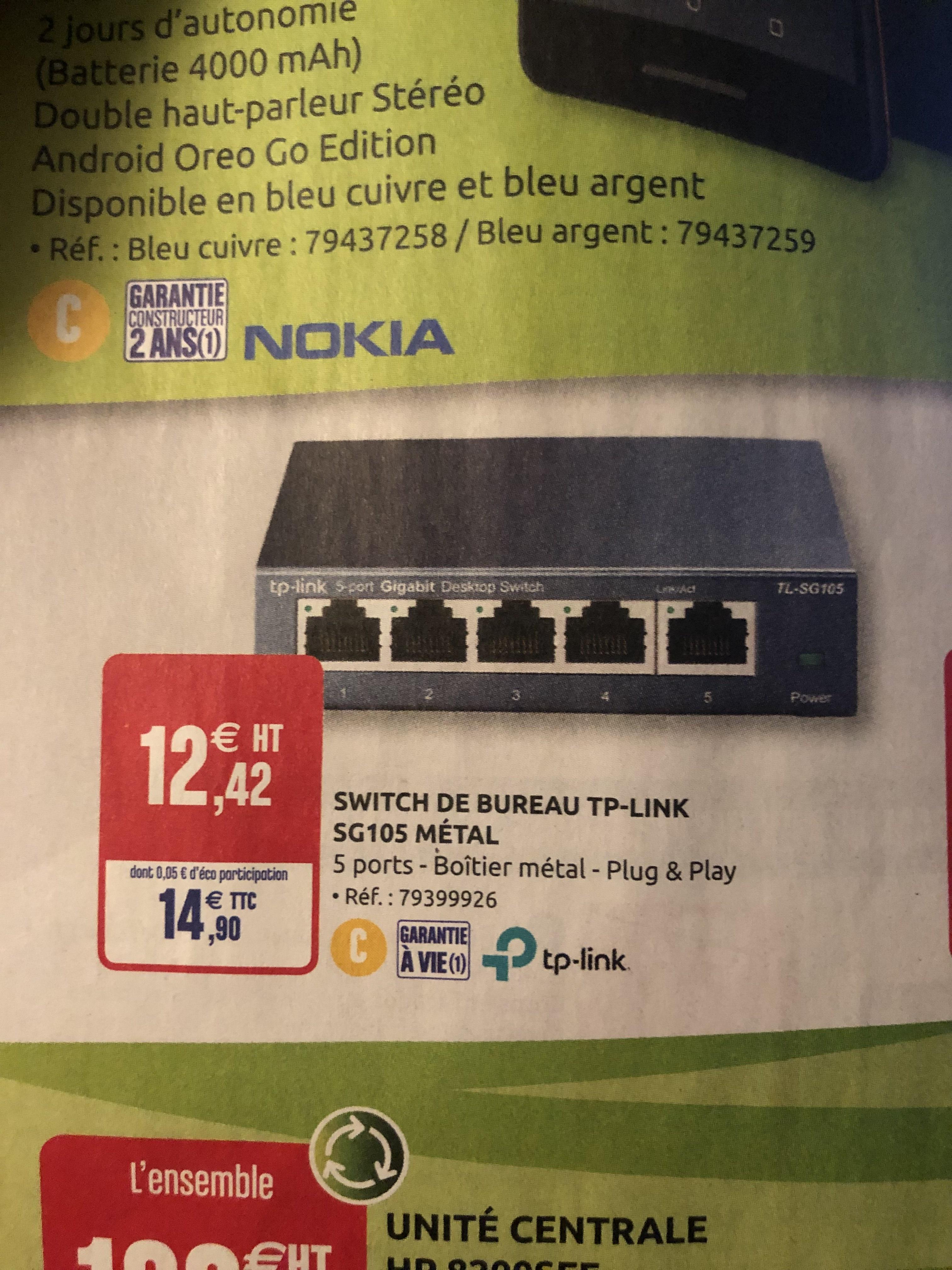 Switch ethernet tp link sg105 grand est hauts de france - Bureau vallee la rochelle ...