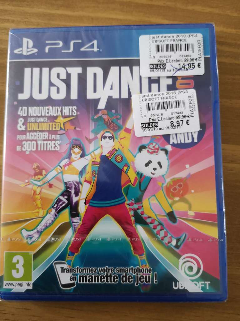 s lection de jeux vdi o en soldes ex jeu just dance 2018 sur ps4 leclerc ch teau gontier. Black Bedroom Furniture Sets. Home Design Ideas