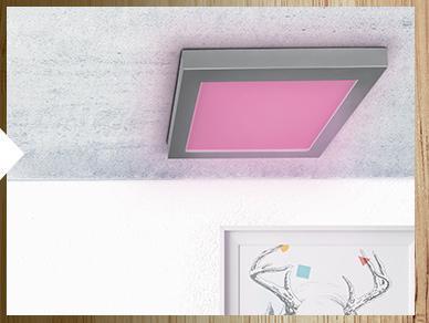 panneau led variation de couleurs ou lumi re blanc chaud. Black Bedroom Furniture Sets. Home Design Ideas