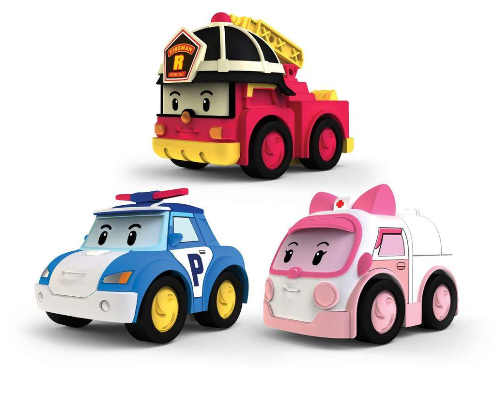 pack de 3 v hicules friction silverlit robocar poli. Black Bedroom Furniture Sets. Home Design Ideas
