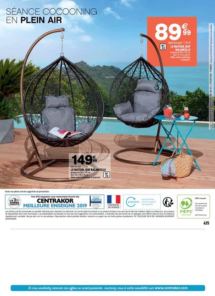 Fauteuil oeuf balancelle - Centrakor – Dealabs.com