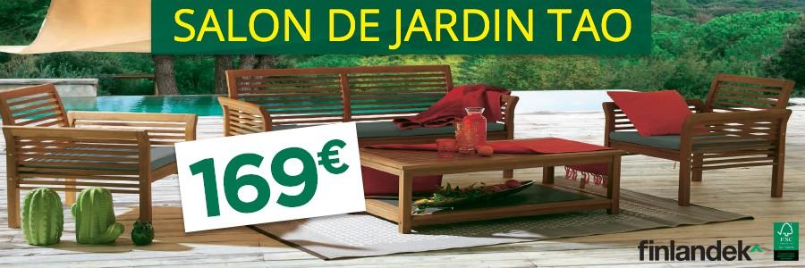 Salon de jardin TAO en acacia huilé 100% remboursé en 4 bons ...