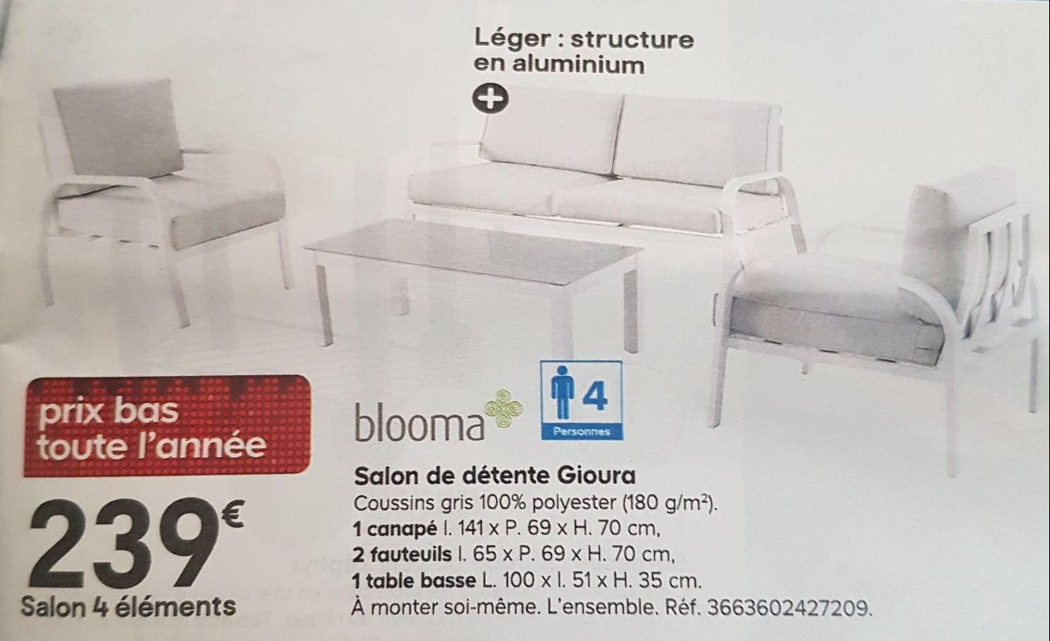 salon de jardin blooma gioura. Black Bedroom Furniture Sets. Home Design Ideas