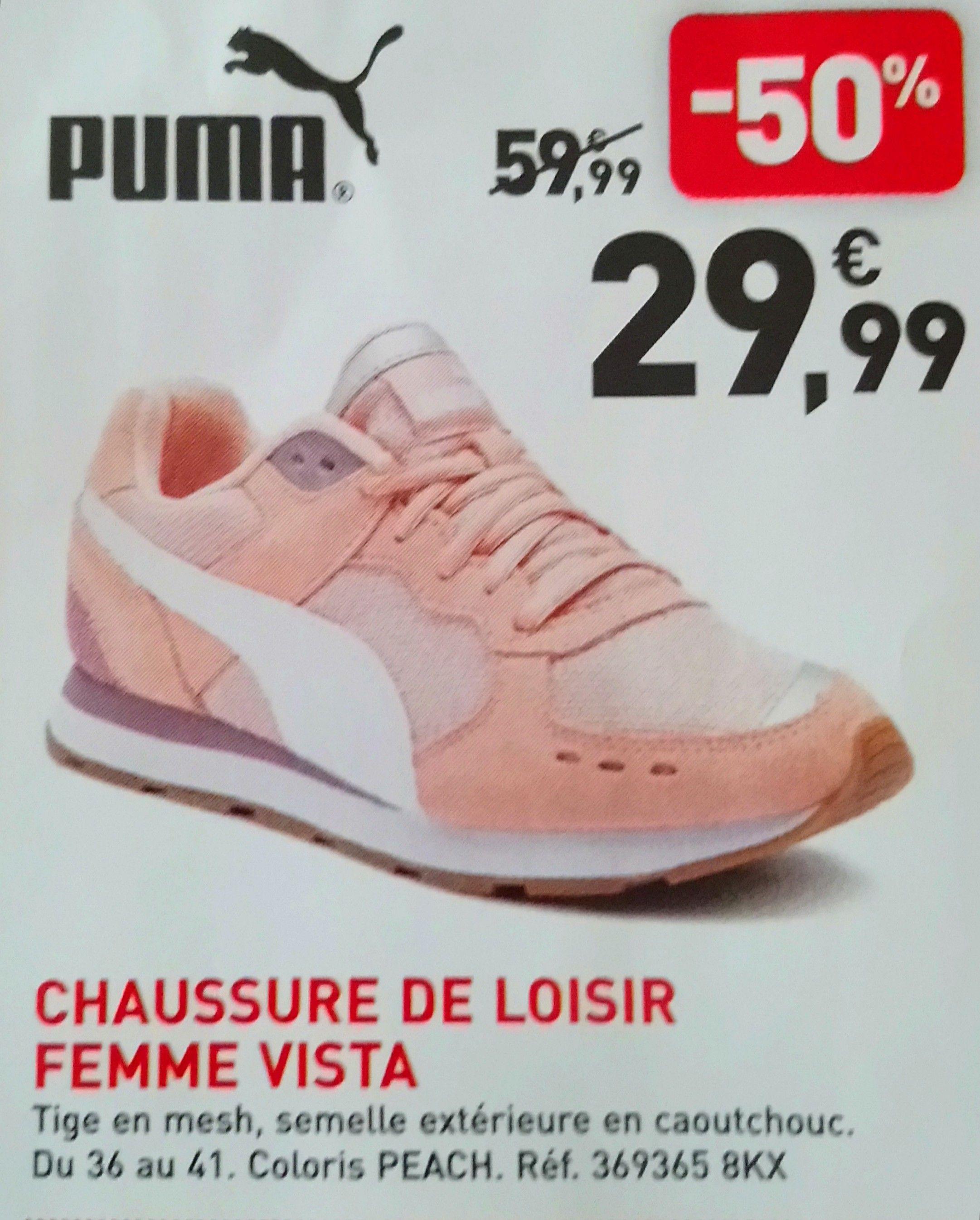 Chaussures Femme Puma Vista RoseBlanc –