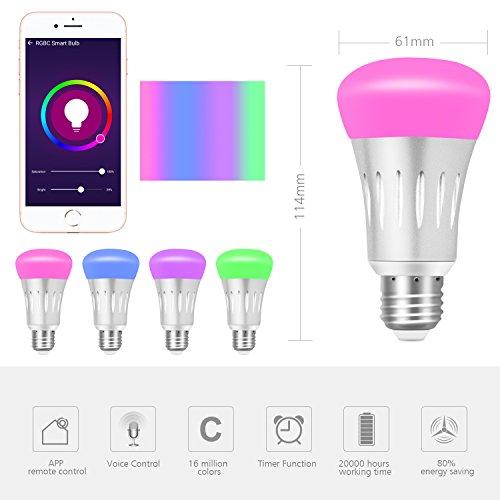ampoule connect e yuanguo ampoule led e27 6000k 600lm 7w. Black Bedroom Furniture Sets. Home Design Ideas
