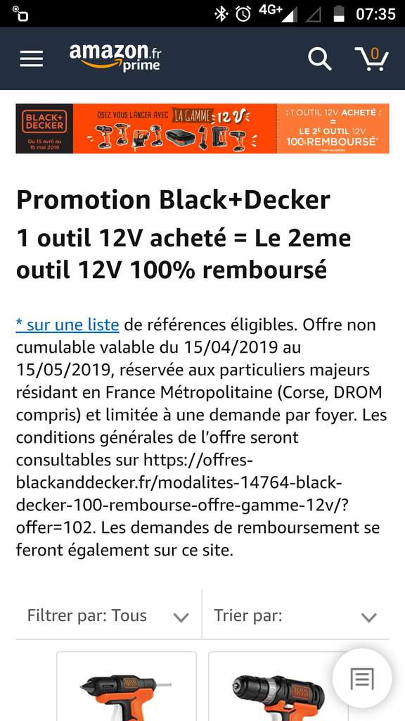 2 outil 12v black et decker rembours s. Black Bedroom Furniture Sets. Home Design Ideas