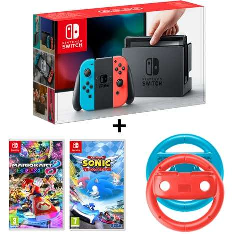 pack console nintendo switch n on mario kart 8 deluxe. Black Bedroom Furniture Sets. Home Design Ideas