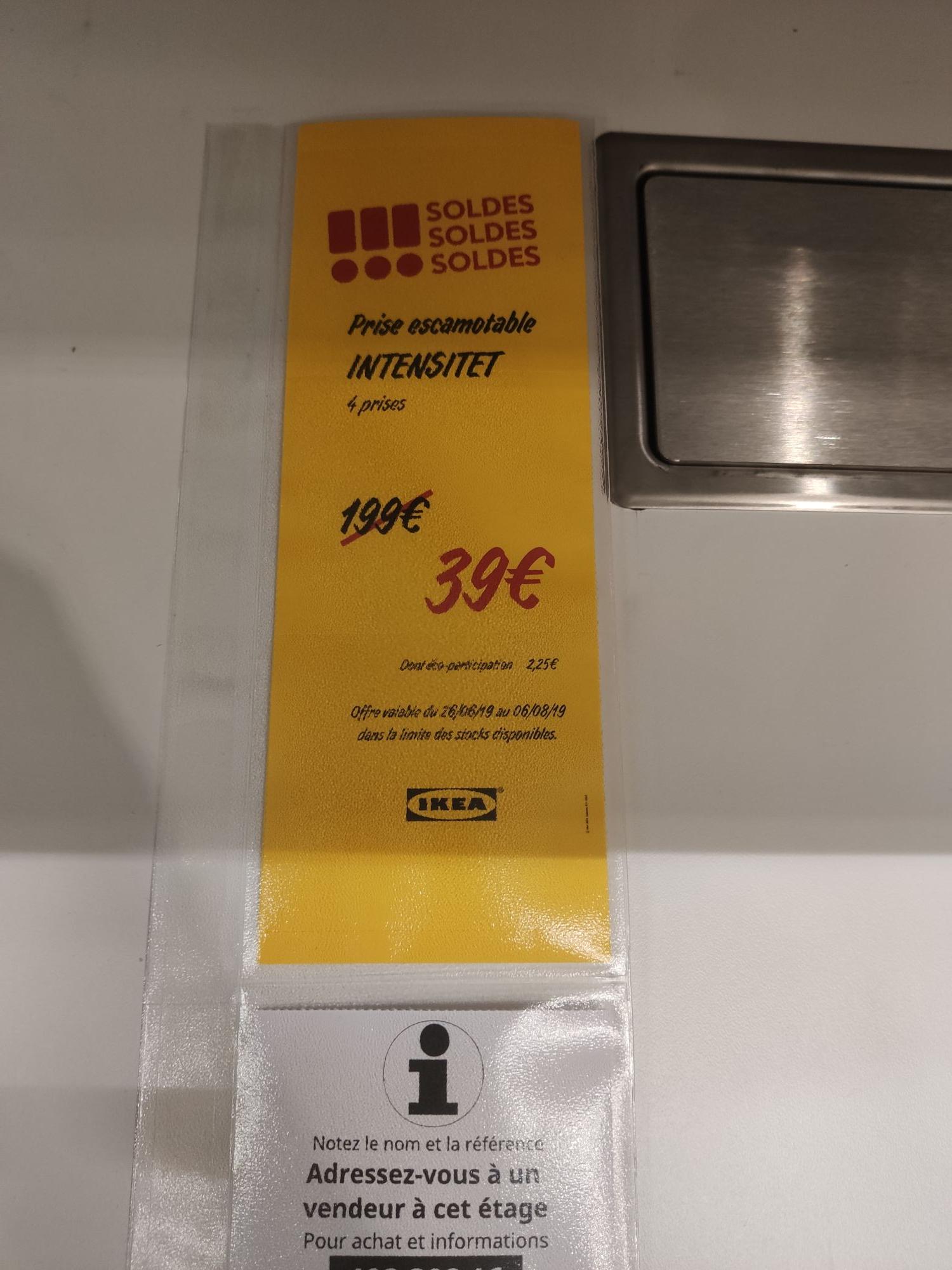 Prise Escamotable Ikea 4 Prises Prix Ikea Family Paris