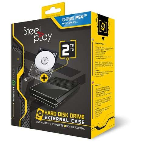 disque dur externe 2 5 steelplay 2 to pour ps4 xbox. Black Bedroom Furniture Sets. Home Design Ideas
