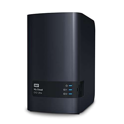 Prime Serveur Nas Wd My Cloud Ex2 Ultra 8 To 2 X 4to border=