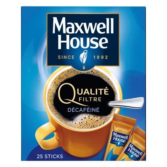 Lot de 3 paquets de 25 sticks de caf d caf in maxwell - House to home designs coupon code ...