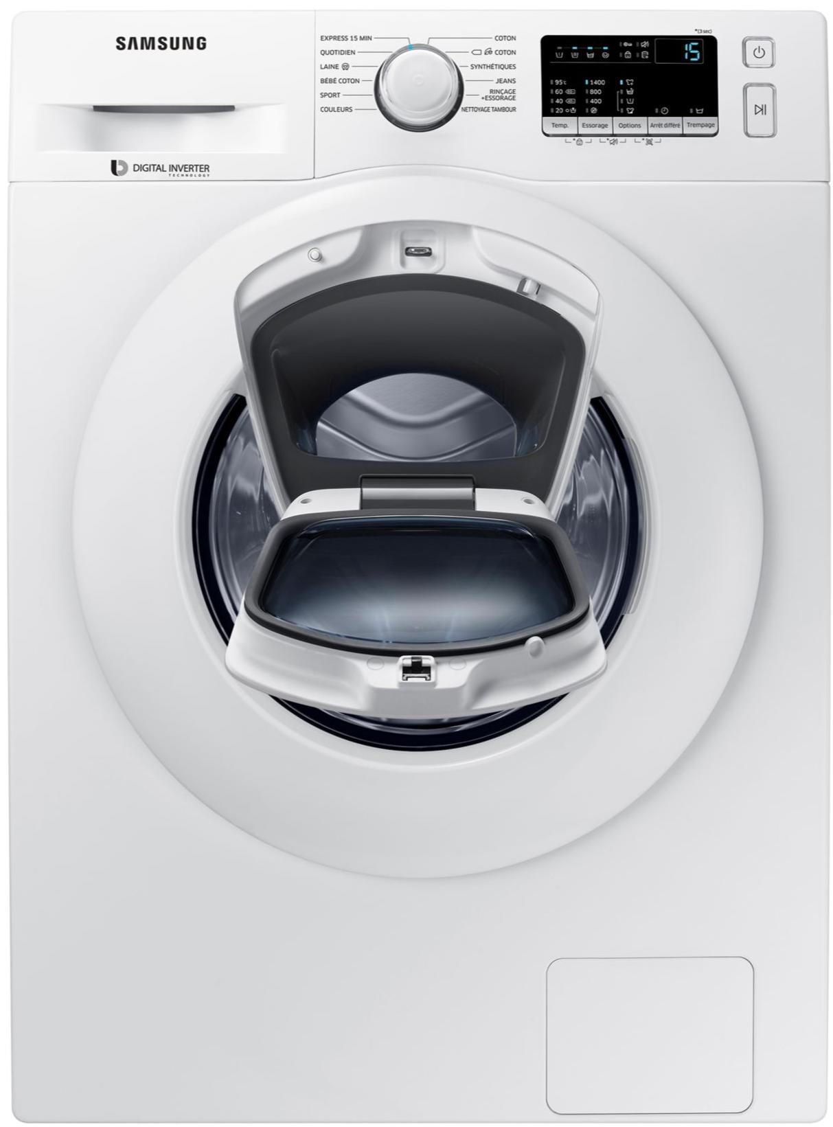 lave linge hublot samsung ww90k4430w 9kg 1400 tr a. Black Bedroom Furniture Sets. Home Design Ideas