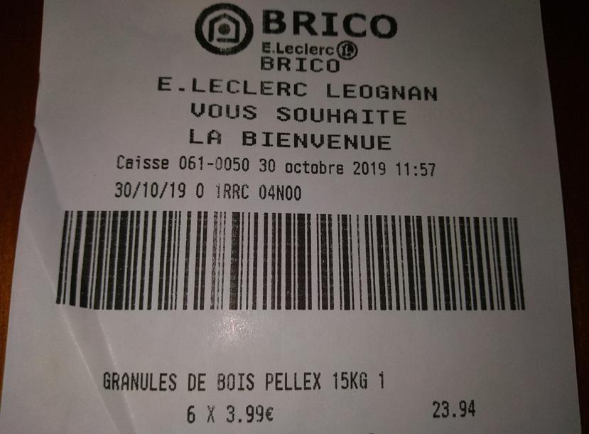 Granulés De Bois Pellex 15kg Leognan 33 Dealabscom