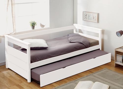 Banquette lit avec tiroir lit laque blanc - Banquette lit tiroir ...