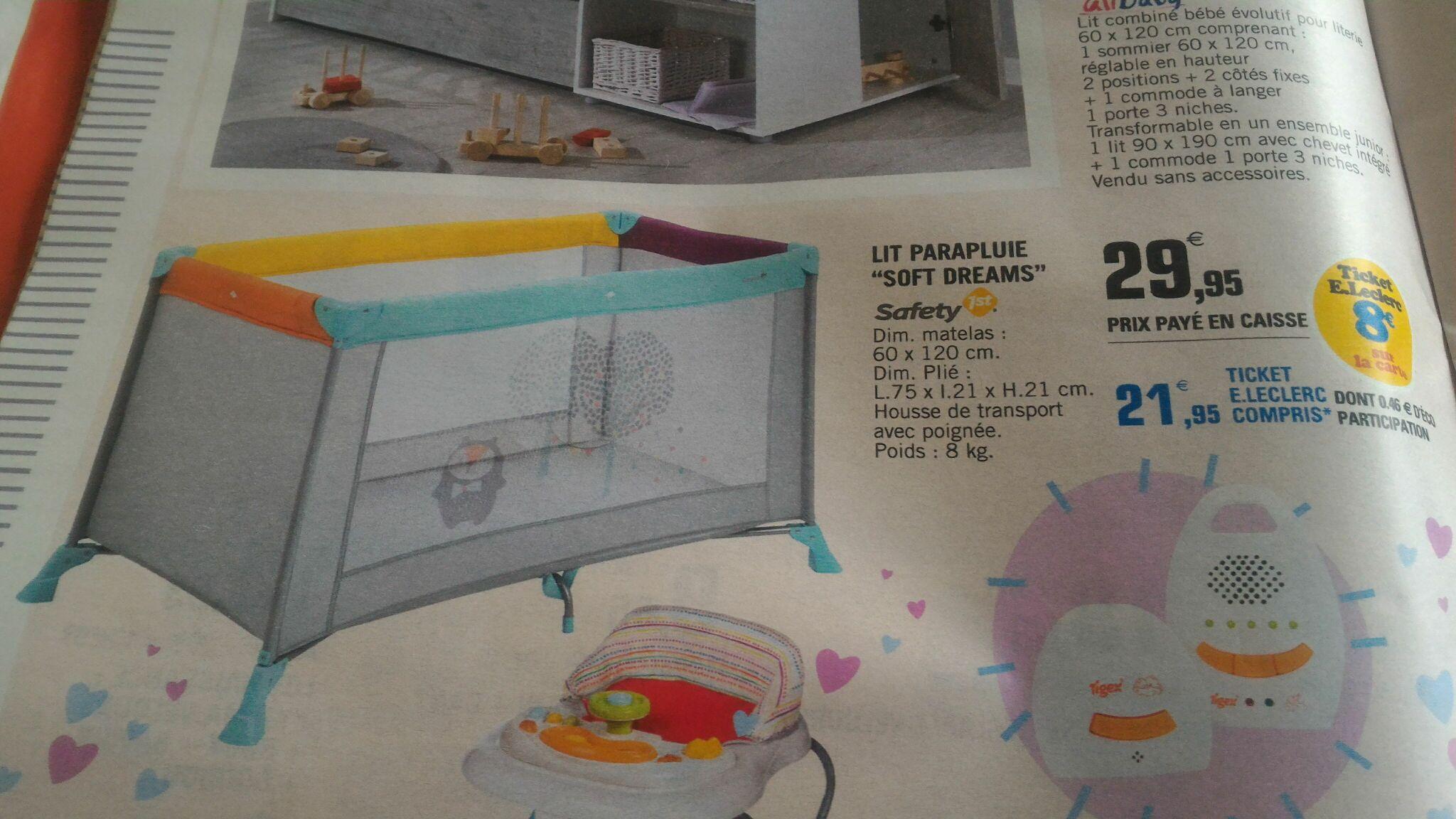 lit parapluie safety first soft dreams avec 8 sur la. Black Bedroom Furniture Sets. Home Design Ideas
