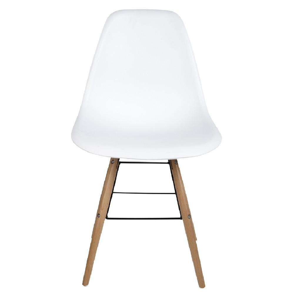 Chaise blanche scandinave charlotte pied ch ne for Chaise design eams