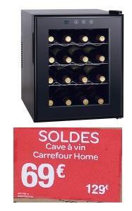 cave vin carrefour home hwc46b 14 16 bouteilles. Black Bedroom Furniture Sets. Home Design Ideas