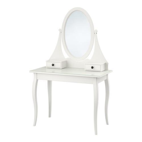 Coiffeuse avec miroir hemnes for Coiffeuse ikea hemnes