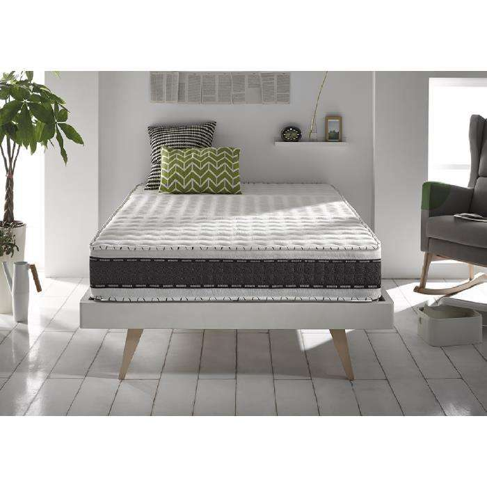 matelas freshy blue latex 7 zones m moire de forme 25cm 140x190 cm. Black Bedroom Furniture Sets. Home Design Ideas