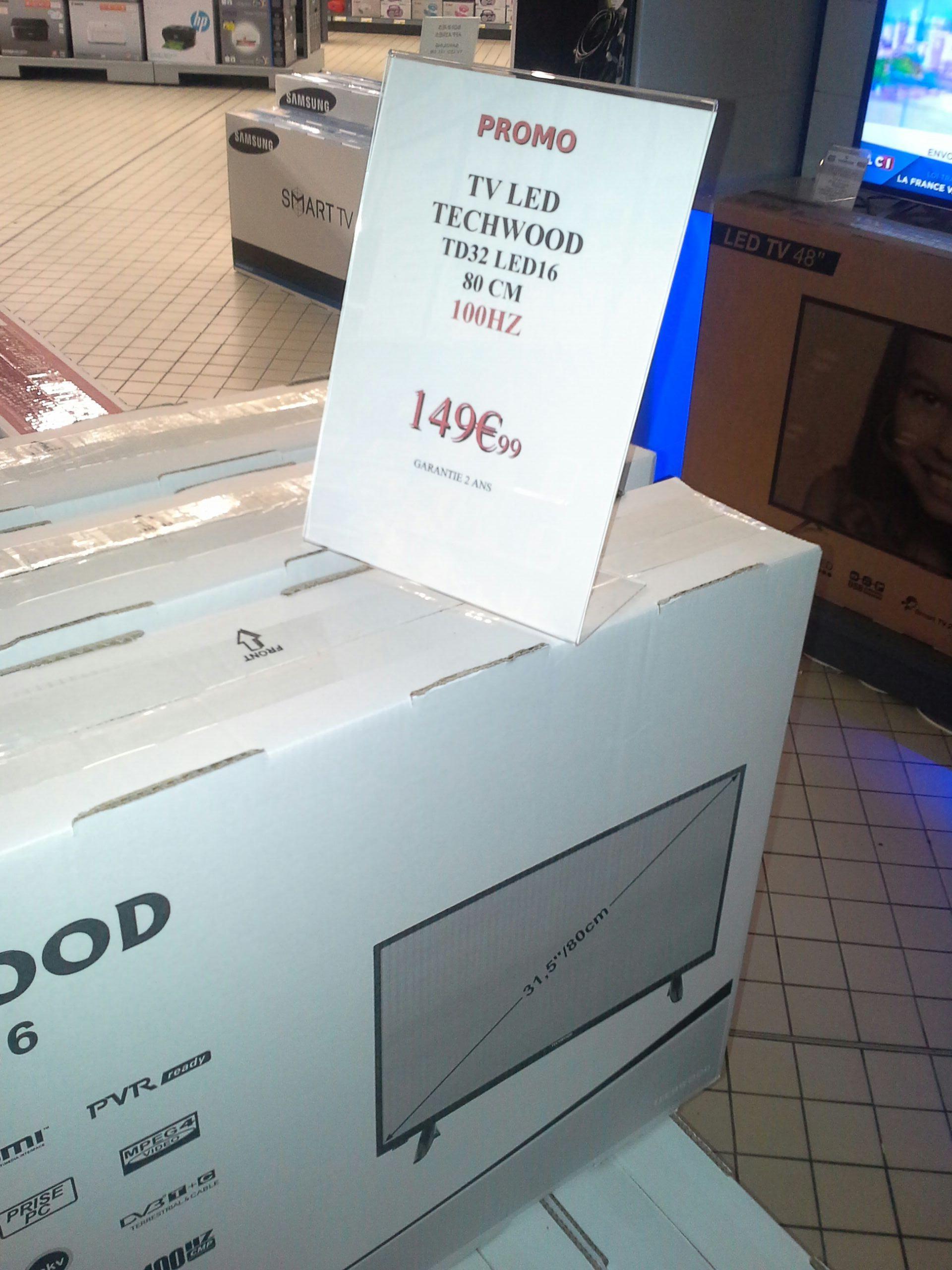 s lection de tv en promo ex tv 32 techwood td32dled16 hd 100 hz. Black Bedroom Furniture Sets. Home Design Ideas